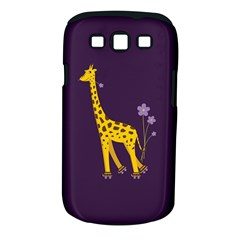 Purple Cute Cartoon Giraffe Samsung Galaxy S Iii Classic Hardshell Case (pc+silicone)