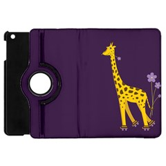 Purple Cute Cartoon Giraffe Apple iPad Mini Flip 360 Case