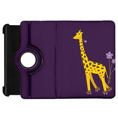 Purple Cute Cartoon Giraffe Kindle Fire HD 7  (1st Gen) Flip 360 Case