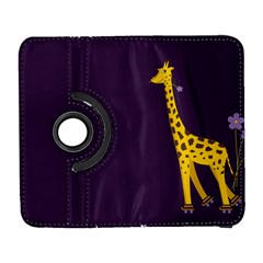 Purple Cute Cartoon Giraffe Samsung Galaxy S  Iii Flip 360 Case
