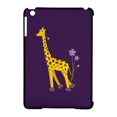 Purple Cute Cartoon Giraffe Apple iPad Mini Hardshell Case (Compatible with Smart Cover)