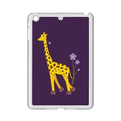 Purple Cute Cartoon Giraffe Apple iPad Mini 2 Case (White)