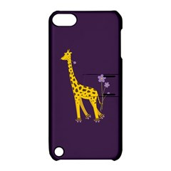 Purple Cute Cartoon Giraffe Apple Ipod Touch 5 Hardshell Case With Stand