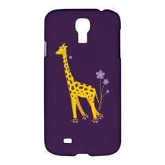 Purple Cute Cartoon Giraffe Samsung Galaxy S4 I9500/i9505 Hardshell Case