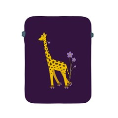 Purple Cute Cartoon Giraffe Apple iPad Protective Sleeve
