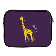 Purple Cute Cartoon Giraffe Apple Ipad Zippered Sleeve
