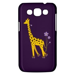 Purple Cute Cartoon Giraffe Samsung Galaxy Win I8550 Hardshell Case