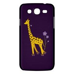 Purple Cute Cartoon Giraffe Samsung Galaxy Mega 5.8 I9152 Hardshell Case