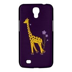 Purple Cute Cartoon Giraffe Samsung Galaxy Mega 6 3  I9200 Hardshell Case