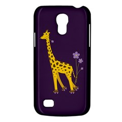 Purple Cute Cartoon Giraffe Samsung Galaxy S4 Mini (GT-I9190) Hardshell Case