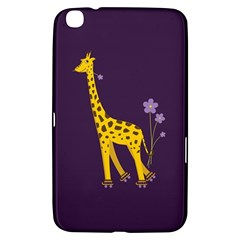 Purple Cute Cartoon Giraffe Samsung Galaxy Tab 3 (8 ) T3100 Hardshell Case
