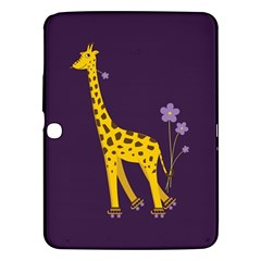 Purple Cute Cartoon Giraffe Samsung Galaxy Tab 3 (10.1 ) P5200 Hardshell Case