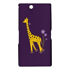 Purple Cute Cartoon Giraffe Sony Xperia Z Ultra (XL39H) Hardshell Case