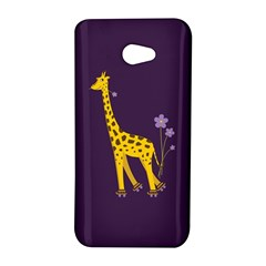 Purple Cute Cartoon Giraffe HTC Butterfly S Hardshell Case