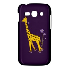 Purple Cute Cartoon Giraffe Samsung Galaxy Ace 3 S7272 Hardshell Case