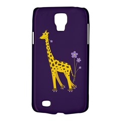 Purple Cute Cartoon Giraffe Samsung Galaxy S4 Active (I9295) Hardshell Case