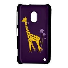 Purple Cute Cartoon Giraffe Nokia Lumia 620 Hardshell Case