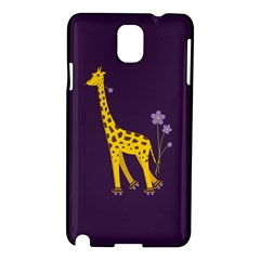 Purple Cute Cartoon Giraffe Samsung Galaxy Note 3 N9005 Hardshell Case