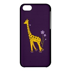 Purple Cute Cartoon Giraffe Apple Iphone 5c Hardshell Case