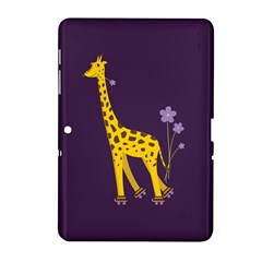 Purple Cute Cartoon Giraffe Samsung Galaxy Tab 2 (10.1 ) P5100 Hardshell Case