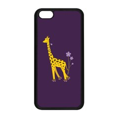 Purple Cute Cartoon Giraffe Apple iPhone 5C Seamless Case (Black)