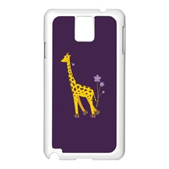 Purple Cute Cartoon Giraffe Samsung Galaxy Note 3 N9005 Case (white)