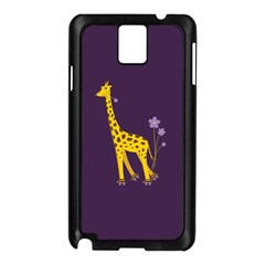Purple Cute Cartoon Giraffe Samsung Galaxy Note 3 N9005 Case (black)