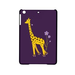 Purple Cute Cartoon Giraffe Apple iPad Mini 2 Hardshell Case
