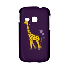 Purple Cute Cartoon Giraffe Samsung Galaxy S6310 Hardshell Case