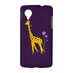 Purple Cute Cartoon Giraffe Google Nexus 5 Hardshell Case