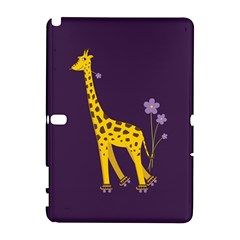 Purple Cute Cartoon Giraffe Samsung Galaxy Note 10 1 (p600) Hardshell Case