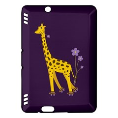 Purple Cute Cartoon Giraffe Kindle Fire HDX 7  Hardshell Case