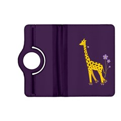 Purple Cute Cartoon Giraffe Kindle Fire Hd 7  (2nd Gen) Flip 360 Case