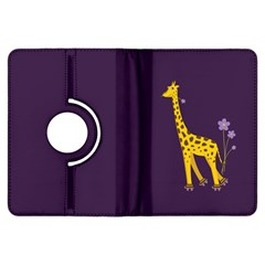 Purple Cute Cartoon Giraffe Kindle Fire HDX 7  Flip 360 Case