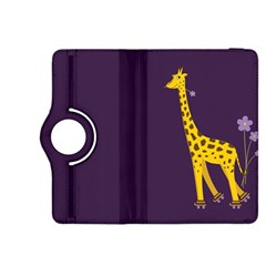 Purple Cute Cartoon Giraffe Kindle Fire HDX 8.9  Flip 360 Case