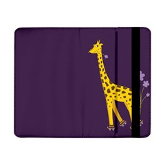 Purple Cute Cartoon Giraffe Samsung Galaxy Tab Pro 8 4  Flip Case