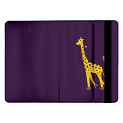 Purple Cute Cartoon Giraffe Samsung Galaxy Tab Pro 12.2  Flip Case