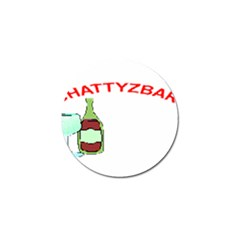 ChattyzBar T-shirt Golf Ball Marker 4 Pack