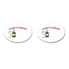 ChattyzBar T-shirt Cufflinks (Oval)