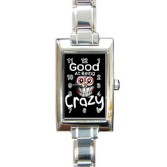 Crazy Rectangular Italian Charm Watch