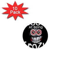 Crazy 1  Mini Button (10 Pack)