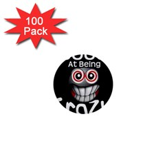 Crazy 1  Mini Button (100 Pack)