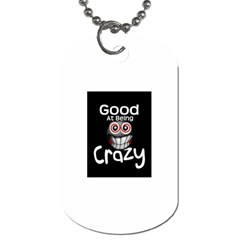 crazy Dog Tag (Two-sided)