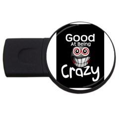 Crazy 4gb Usb Flash Drive (round)