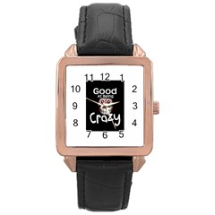 crazy Rose Gold Leather Watch
