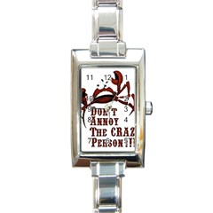 crazy person Rectangular Italian Charm Watch