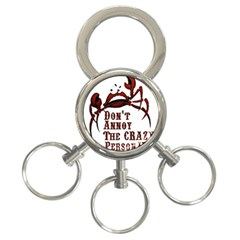 crazy person 3-Ring Key Chain