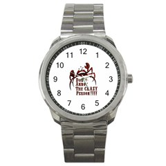 crazy person Sport Metal Watch