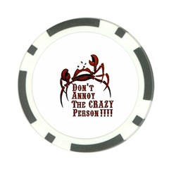 Crazy Person Poker Chip