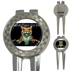 Tiger Golf Pitchfork & Ball Marker